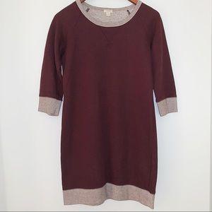 J. Crew maroon sweater dress | Size S